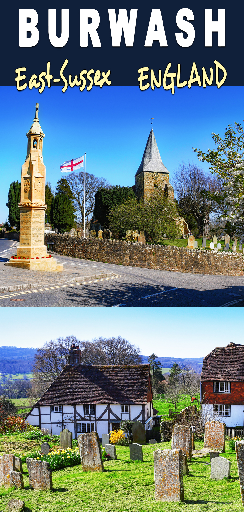 Burwash (Angleterre) pour Pinterest © French Moments