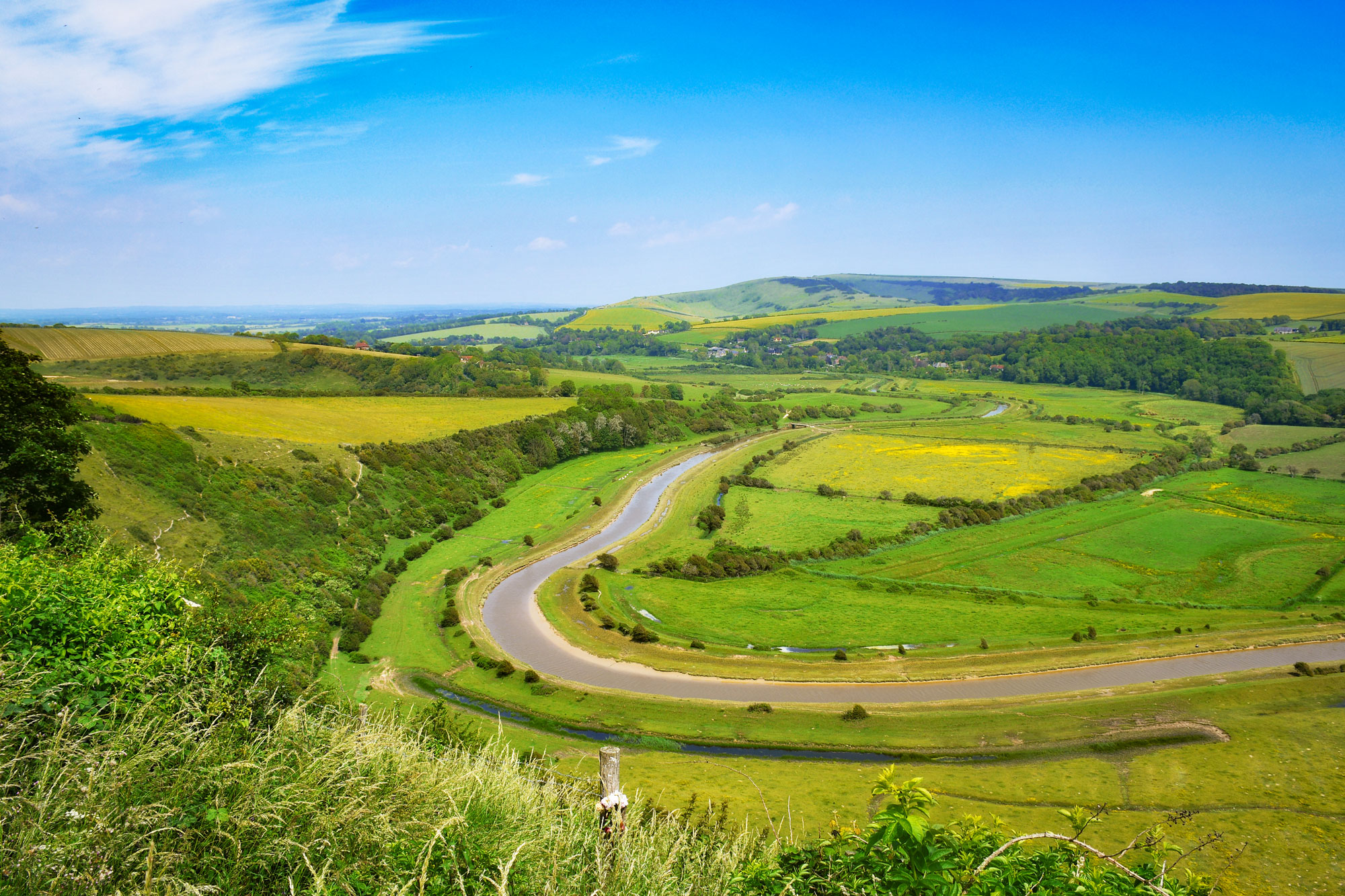 La Cuckmere Valley depuis le White Horse de Litlington © French Moments