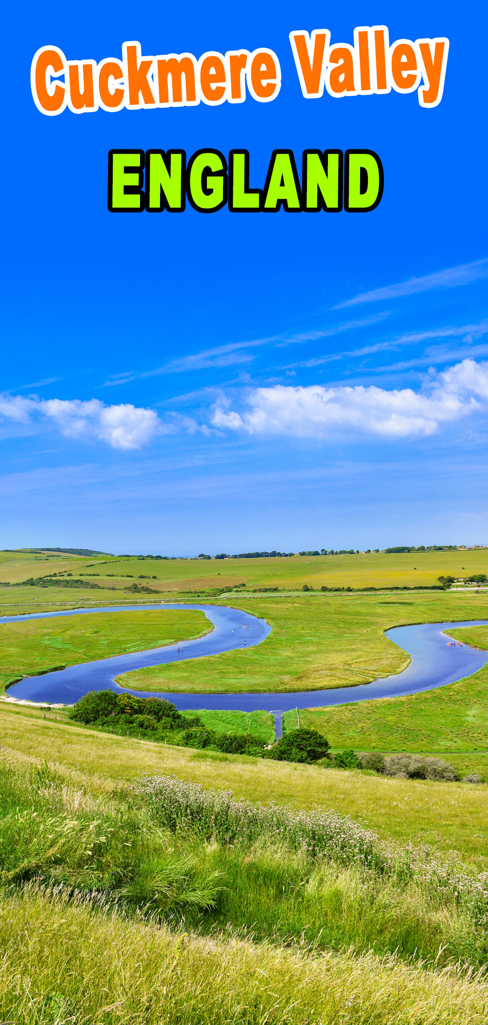 Cuckmere Valley pour Pinterest © French Moments